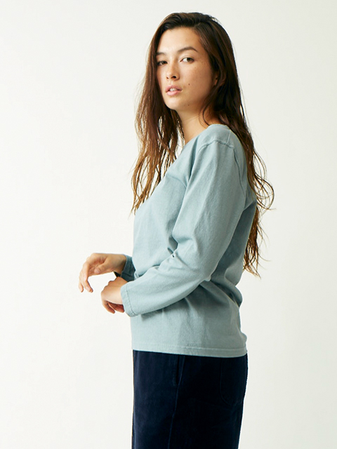 WOMEN'S L/S BOAT NECK TEE [2020SPRING] / ウィメンズロングスリーブボートネックTシャツ