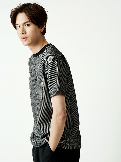 SEERSUCKER S/S POCKET TEE [2021SS] / シアサッカーショートスリーブポケットTシャツ