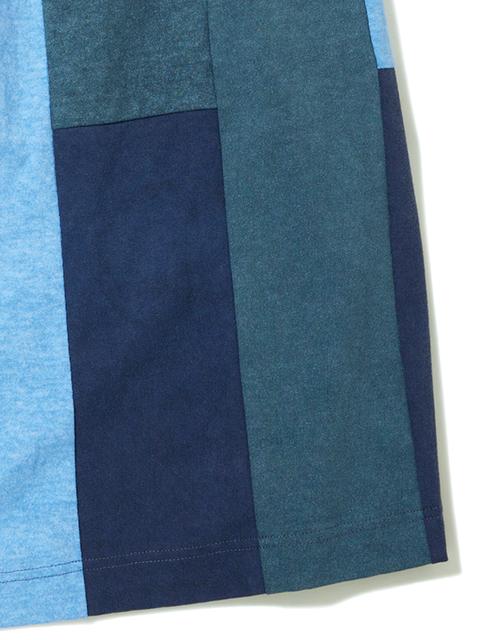 STRIPE PATCH WORK TEE MAXI SKIRT / ストライプパッチワークT-マキシスカート