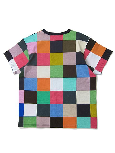S/S SQUARE PATCH WORK TEE [2021SS] / ショートスリーブスクエアパッチワークTシャツ