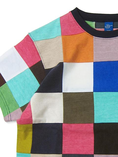 S/S SQUARE PATCH WORK TEE / ショートスリーブスクエアパッチワークTシャツ
