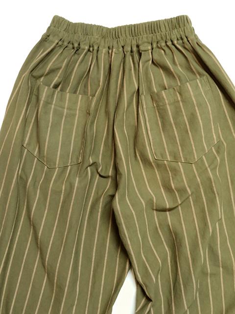 WOMEN'S STRIPE RELAX PANTS [2020SS] / ウィメンズストライプリラックスパンツ
