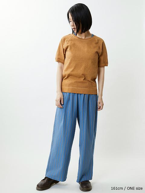 WOMEN'S STRIPE RELAX PANTS [2021SS] / ウィメンズストライプリラックスパンツ