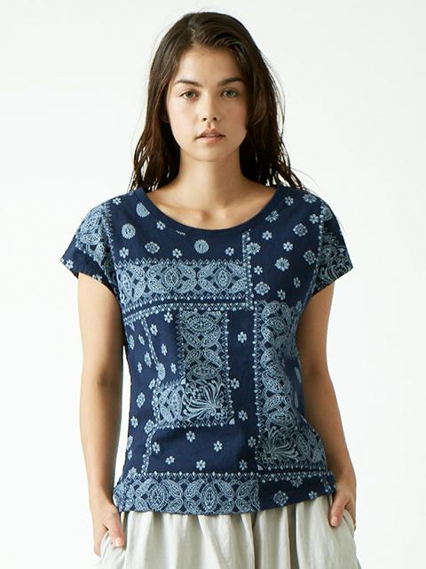 WOMEN'S BANDANA NO SLEEVE TEE / ウィメンズバンダナノースリーブTシャツ