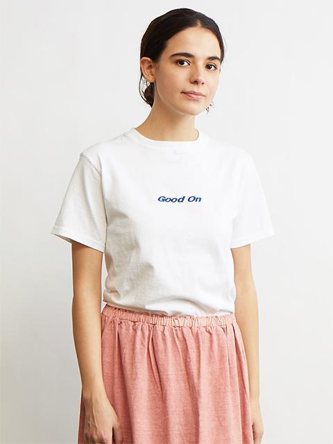 """Good On"" LOGO EMBROIDERY S/S TEE [2021SS] / ""Good On""ロゴ刺繍ショートスリーブTシャツ"
