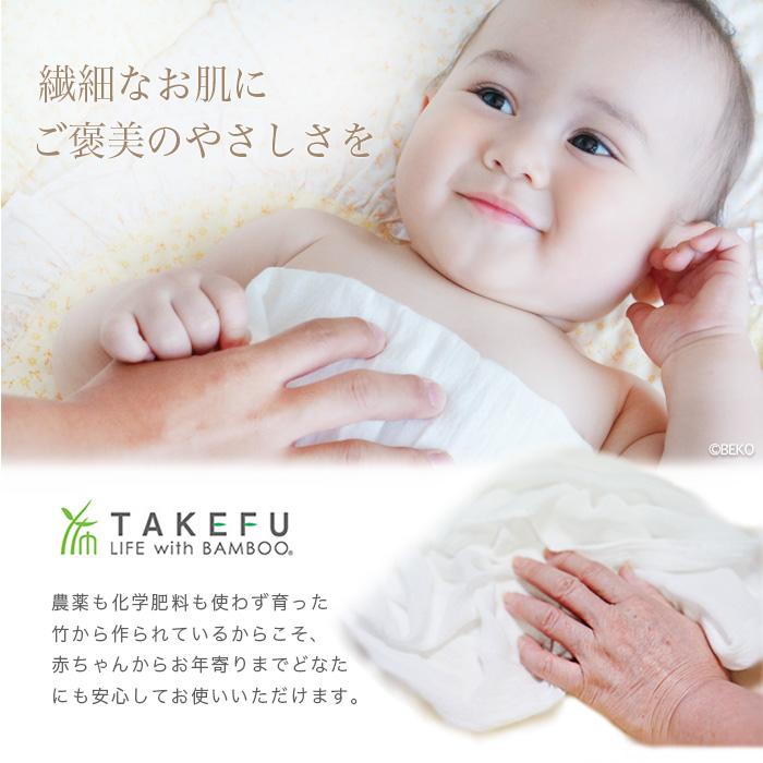 【送料無料】【3枚組】TAKEFU竹布 洗顔クロス 3枚組 (メール便使用)