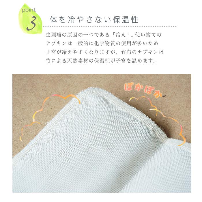 【送料無料】【4枚組】TAKEFU竹布・布ナプキンS・4枚組み (メール便使用)