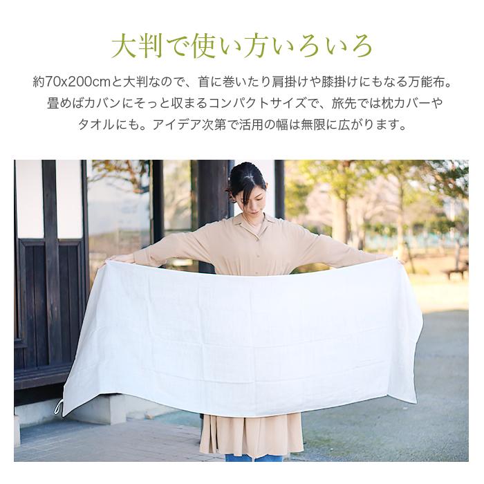 TAKEFU 竹布 清布(すがしぬの)ガーゼショール (メール便使用で送料無料!)