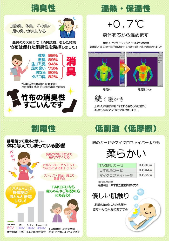 【送料無料】【2枚組】TAKEFU竹布キッズマスク(子供用)送料無料 (メール便使用)