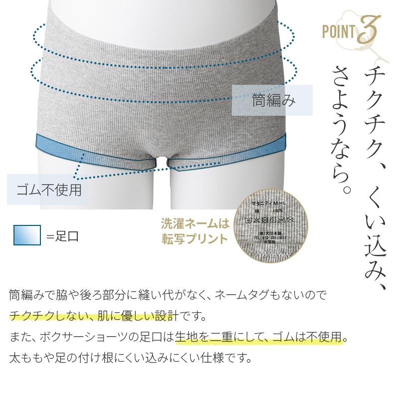 【2枚組】オーガニックコットン100% ボクサーショーツ(産前・産後)犬印 ISH296Tメール便使用