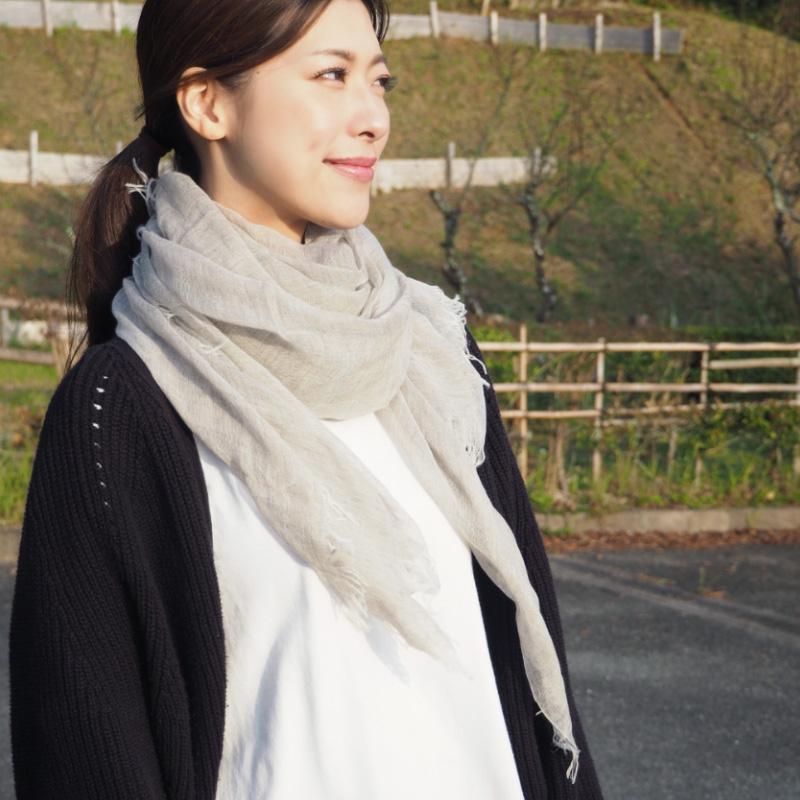 TAKEFU 竹布 極細80番手ストール(ヤク入り) (メール便使用で送料無料!)