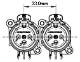 NEUTRIK NC3FAV2-D Aシリーズ・垂直基板用 3pin