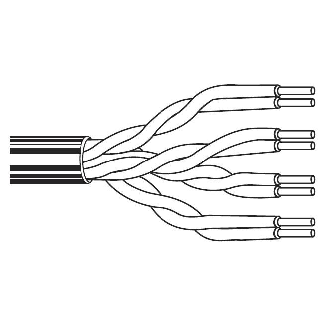 BELDEN 1304A タクティカルCAT5eケーブル (6.22mm, 24AWG)
