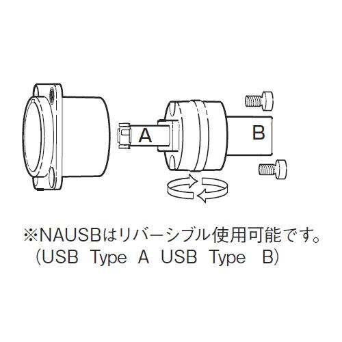 NEUTRIK NAUSB-W-B USBアダプター
