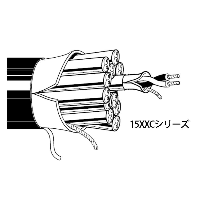 BELDEN 1509C 2ch アナログ音声マルチケーブル (7.65mm, 24AWG)