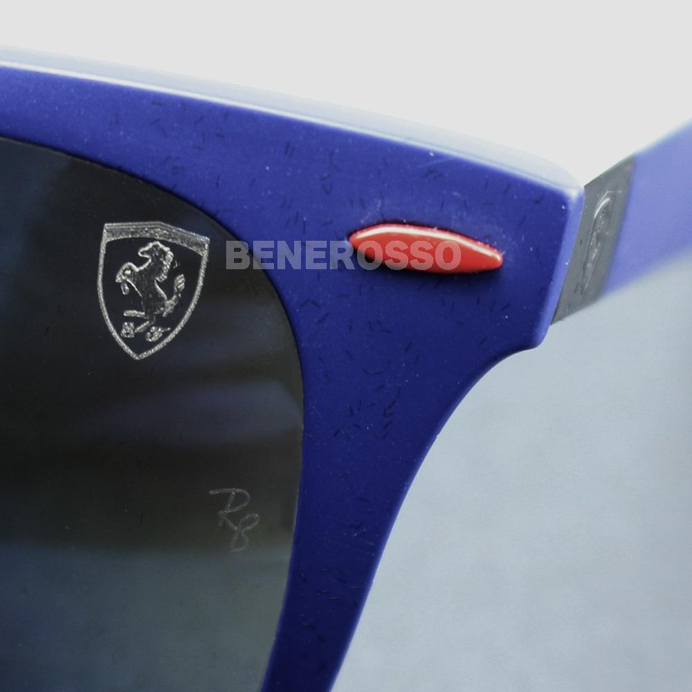 フェラーリ サングラス Ray-Ban 0RB 4195M マットブルー【本店限定発売】