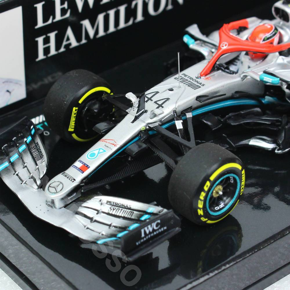 MINICHAMPS 1/43スケール メルセデス AMG ペトロナス モータースポーツ W10 EQ Power+ L.ハミルトン 2019年 モナコGP 優勝 417190644
