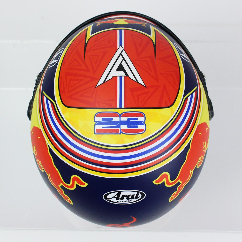 SPORTS MINI LINE 1/2スケール ヘルメット A.アルボン 2020 レッドブル BELL-4100057