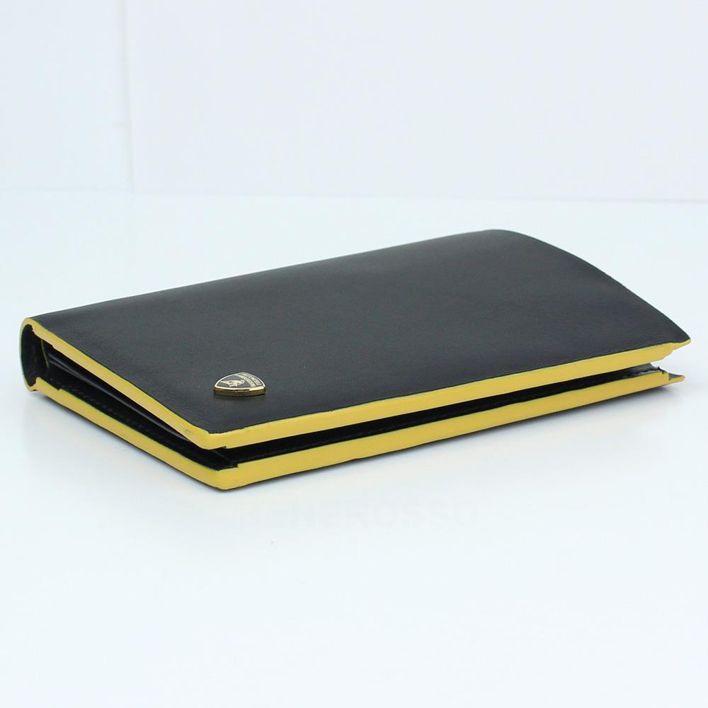 ランボルギーニ レザー ベルティカル ウォレット コントラスト ブラック 9012396LLB052