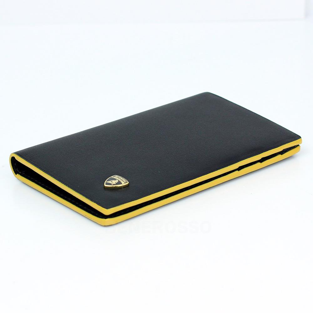 ランボルギーニ レザー カードホルダー コントラスト ブラック 9012399LLB052