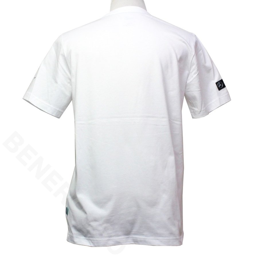 PUMA メルセデス AMG ペトロナス モータースポーツ MAPM ロゴ Tシャツ 2020 ホワイト 596186-02 【宅急便コンパクト対応】