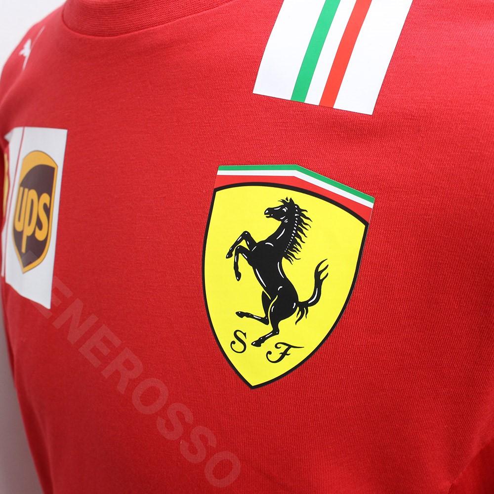 PUMA スクーデリア フェラーリ チーム C.ルクレール ドライバー Tシャツ 2021 レッド 763039-02