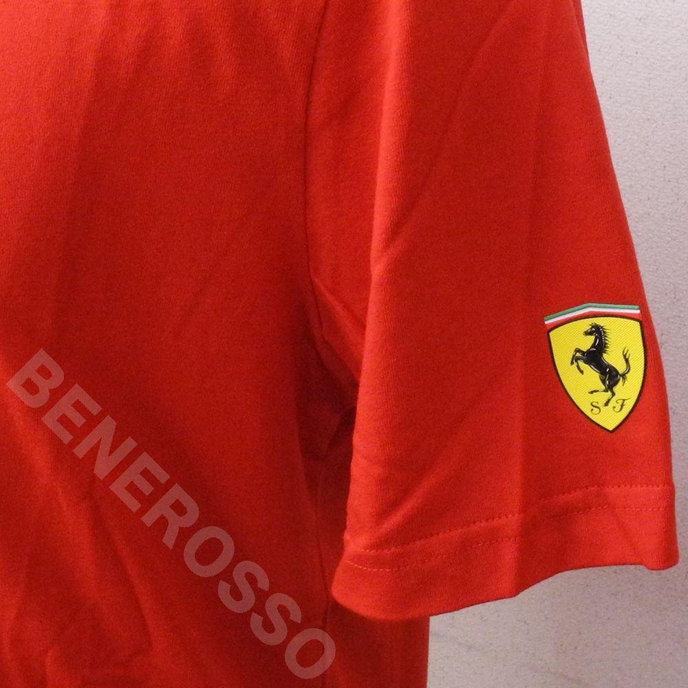 PUMA フェラーリ SF ファンウェア ビッグシールド Tシャツ FW レッド 595433-01