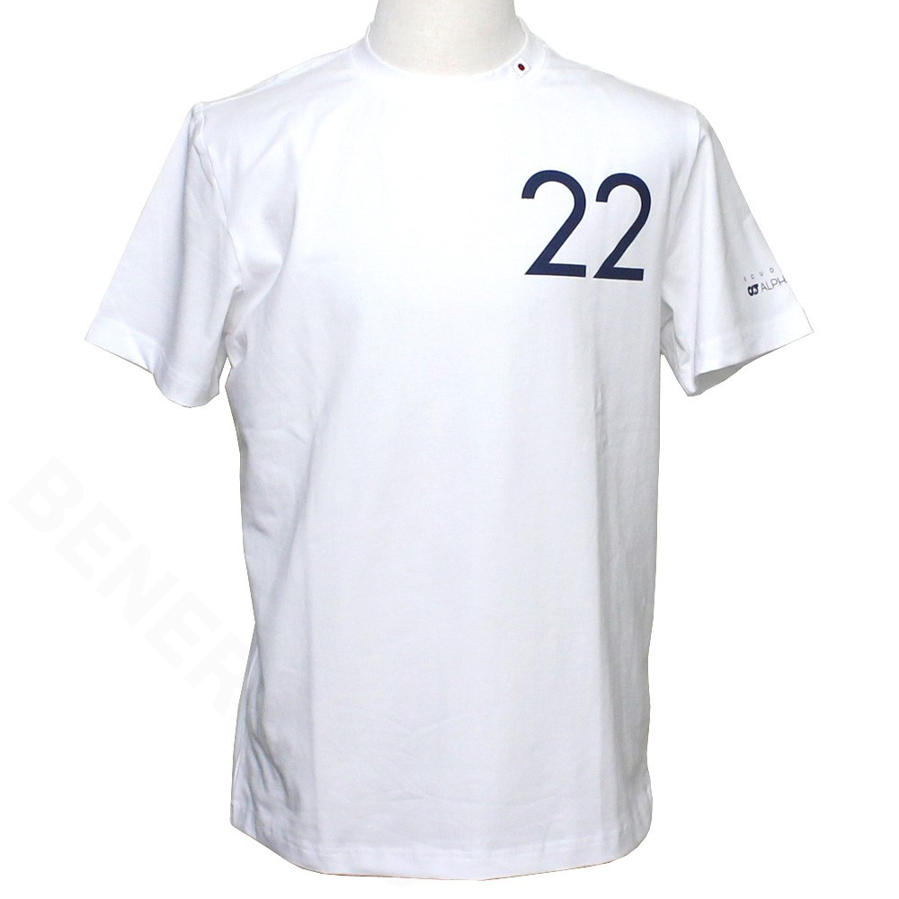 スクーデリア アルファタウリ ホンダ チーム 角田裕毅 ドライバー Tシャツ 2021 ホワイト SAT21036