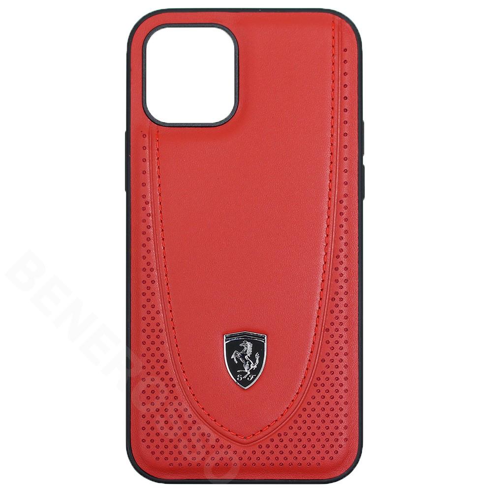フェラーリ iPhone12 / 12 Pro レザー ハードケース Off Track Perforated レッド FEOGOHCP12MRE (宅急便コンパクト対応)