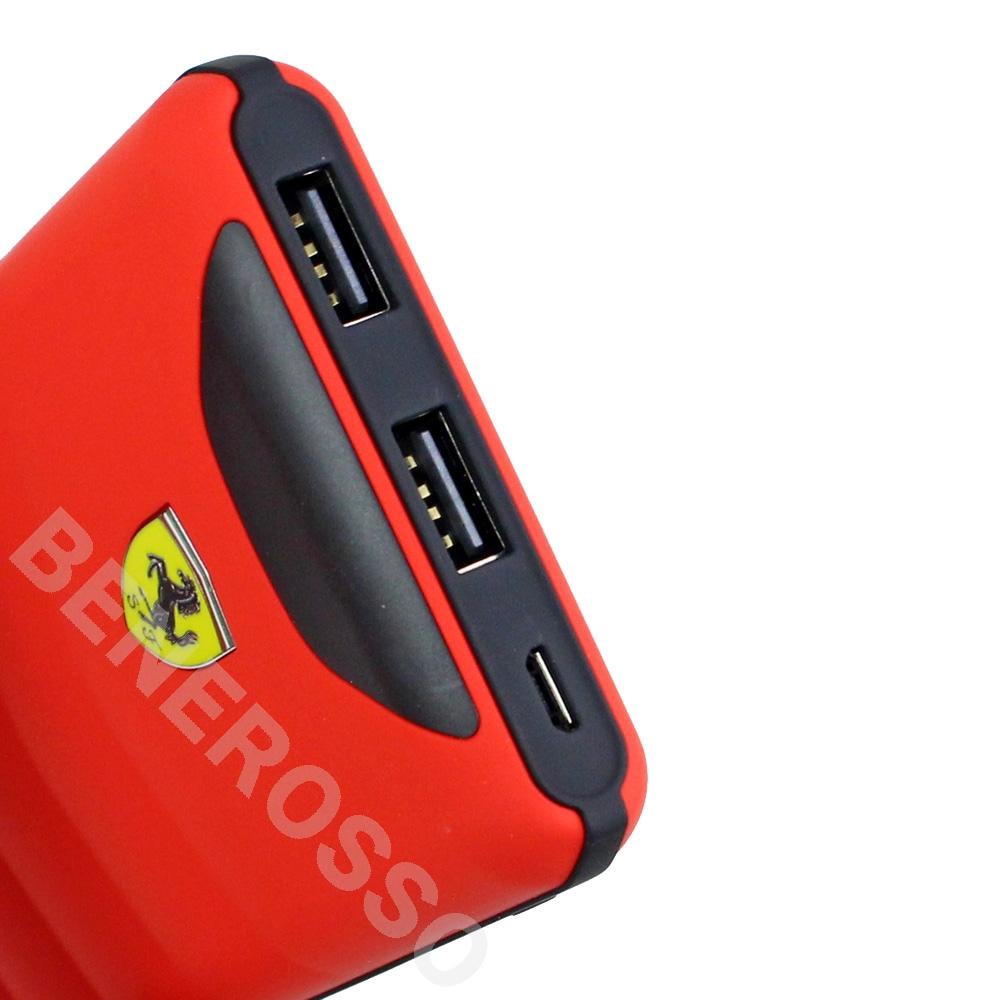 フェラーリ ワイヤレス充電機能付き モバイルバッテリー 10000mAh レッド FEOPBW10KQURE