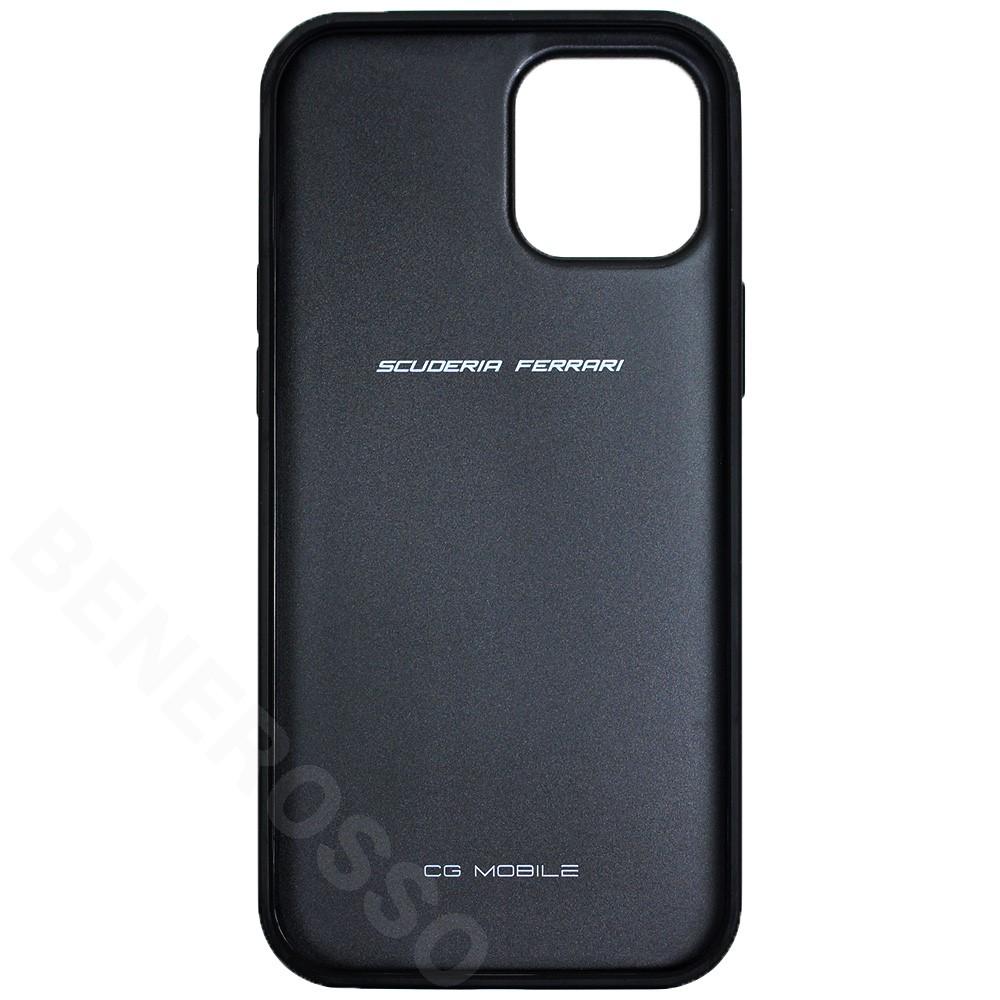 フェラーリ iPhone12 Pro Max レザー ハードケース Off Track Perforated レッド FEOGOHCP12LRE (宅急便コンパクト対応)