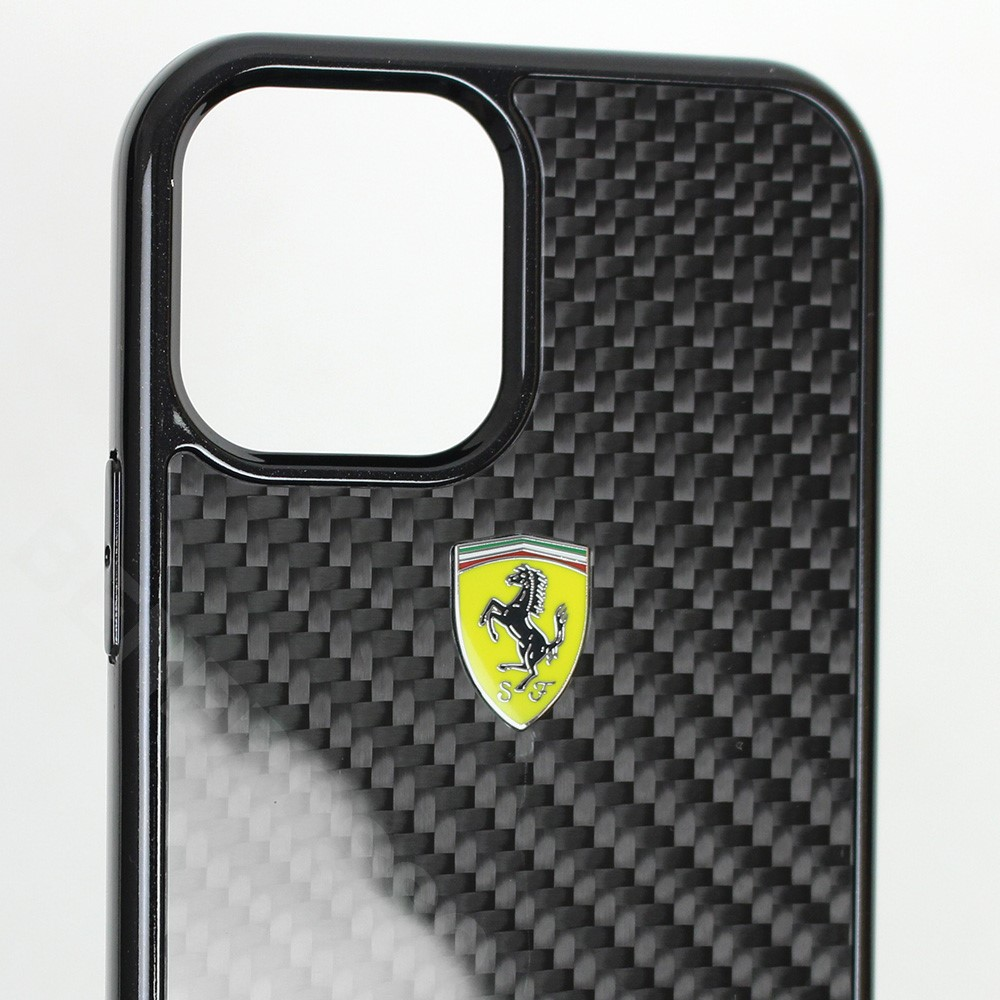 フェラーリ iPhone12 / 12 Pro リアルカーボン ハードケース On Track ブラック FERCAHCP12MBK (宅急便コンパクト対応)