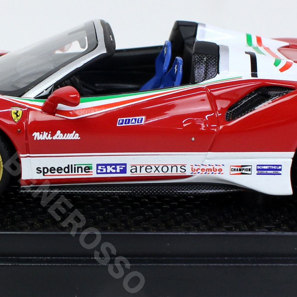 BBR MODELS 1/43スケール フェラーリ 488PISTA Spider Special version Lauda BBRC218LA
