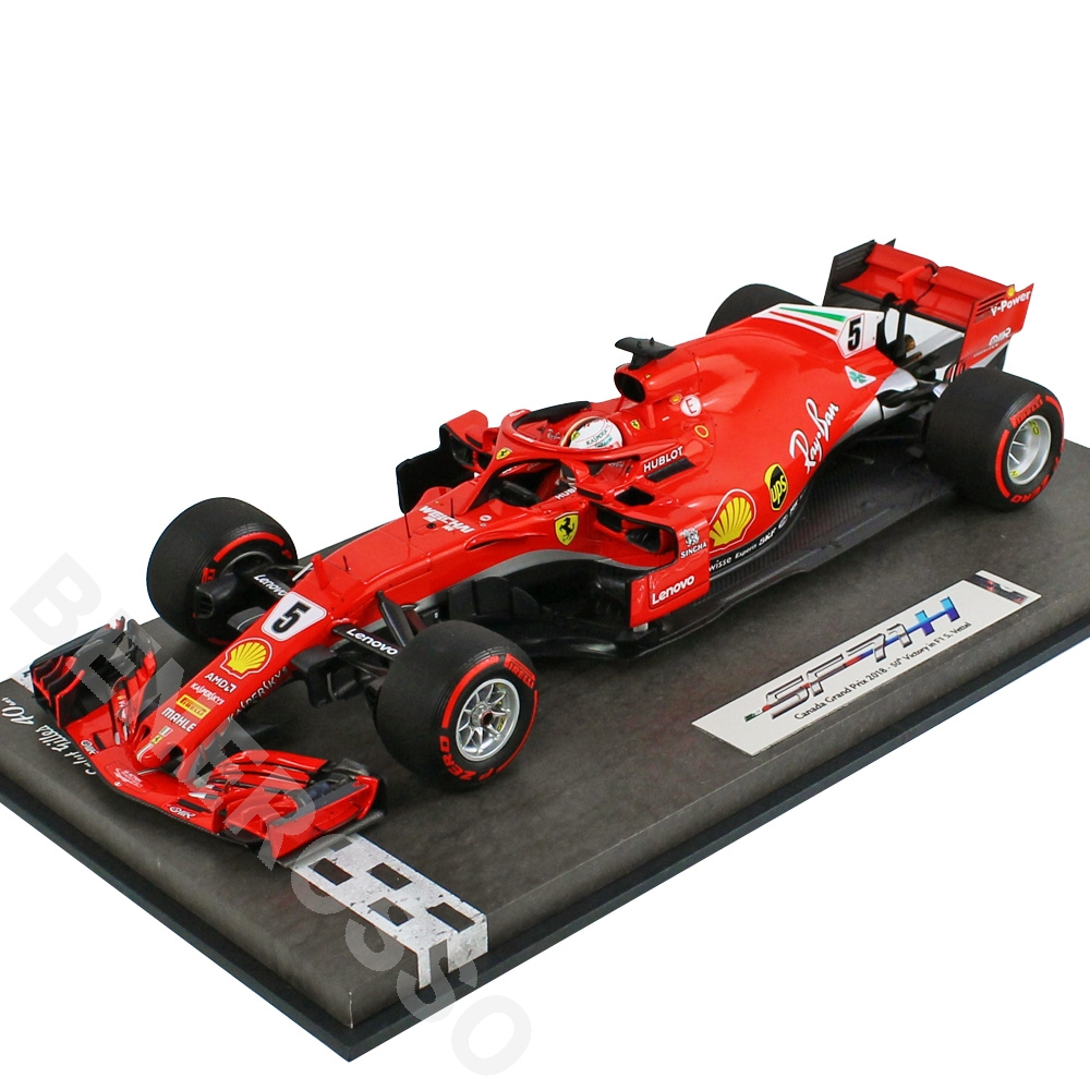 BBR MODELS 1/18スケール フェラーリ SF71-H カナダGP 2018 S.ベッテル Special Packaging BBR181805CANSH