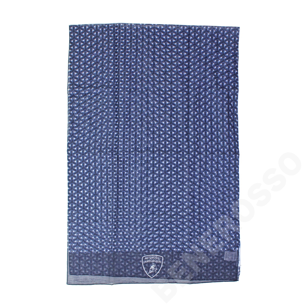 ランボルギーニ Yウェーブ パターン スカーフ ネイビー (stone) 9012285CCU194