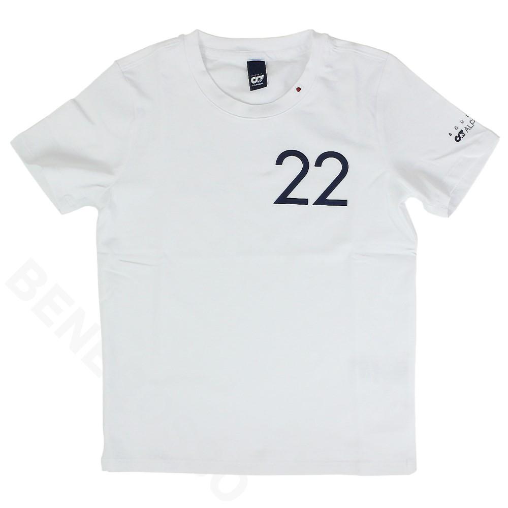 アルファタウリ ホンダ チーム キッズ 角田裕毅 ドライバー Tシャツ 20021 ホワイト SAT21317