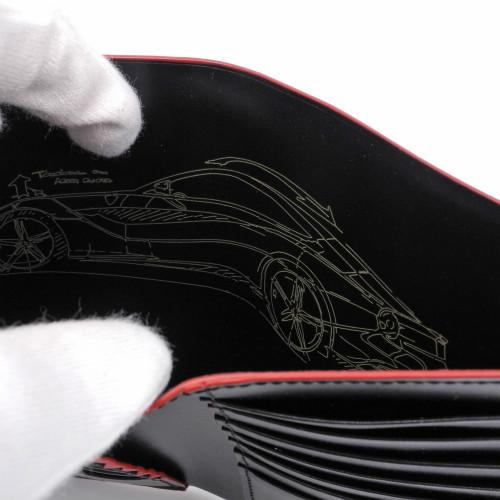 フェラーリ ベルティカル ウォレット F12 ベルリネッタ 10.5×14.2cm ブラック