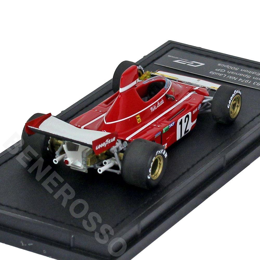 TOPMARQUES 1/43スケール フェラーリ 312 B3 1974 スペインGP #12 N.ラウダ GRP43001C