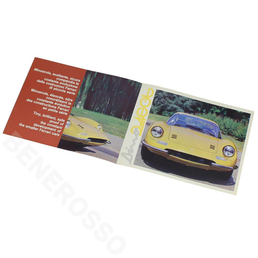 フェラーリ オリジナル カタログ Dino 246 GT ヨーロッパ版 初版 タイプ2 【返品・交換対象外】