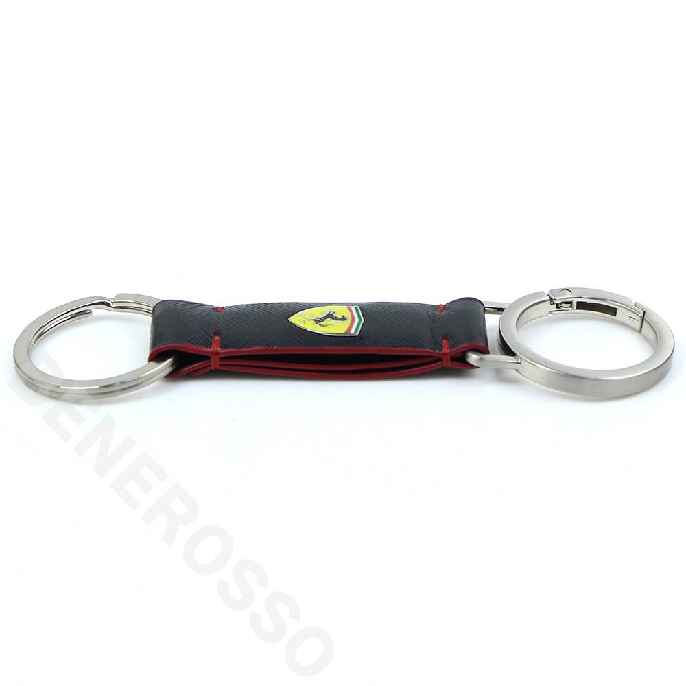 フェラーリ EVO キーリング サフィアーノ レザー ブラック