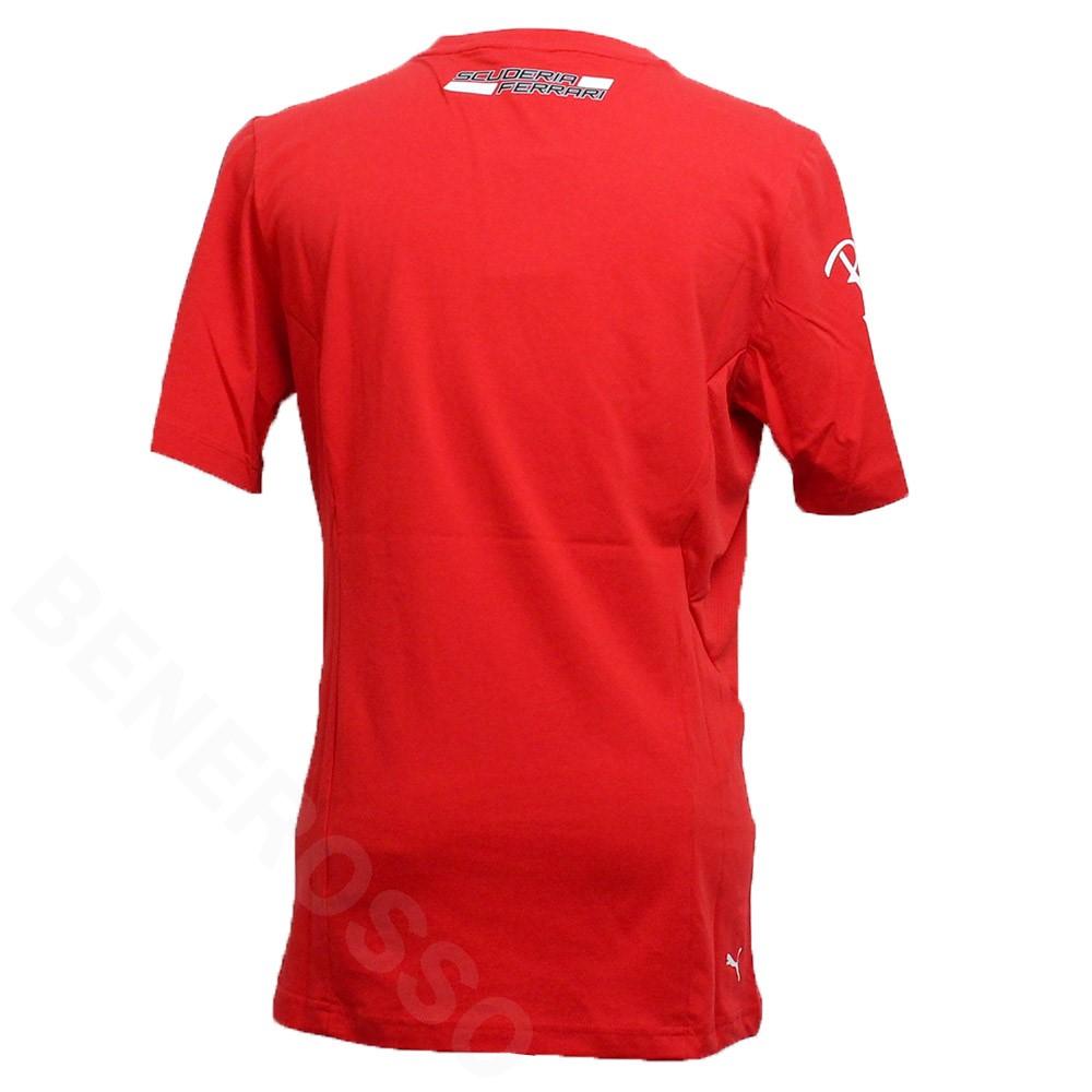 PUMA スクーデリア フェラーリ チーム C.サインツ ドライバー Tシャツ 2021 レッド 763217-02