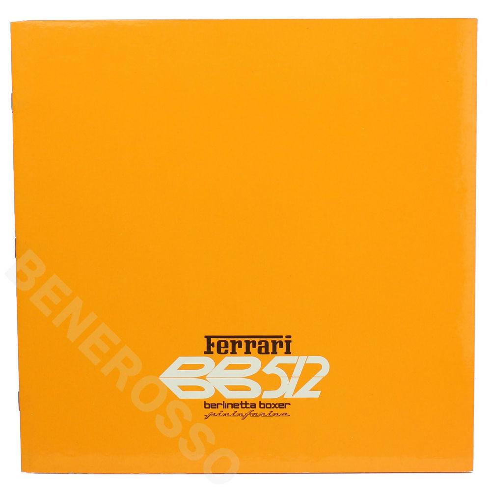 フェラーリ 512BB オリジナル カタログ ヨーロッパ版 最終 【返品・交換対象外】