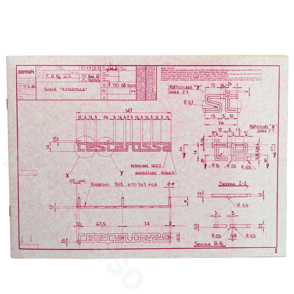 フェラーリ テスタロッサ 1984 プレスキット 【返品・交換対象外】