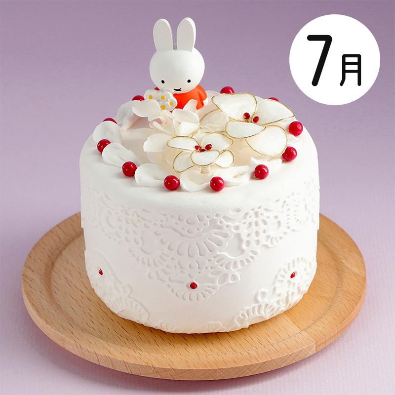 フラワーミッフィー ハッピーバースデーケーキアレンジ 7月