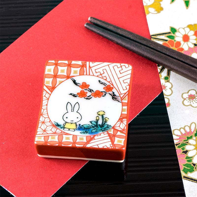 九谷焼 箸置き 赤絵