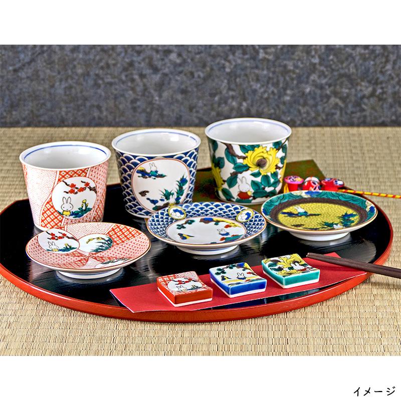九谷焼 小皿 赤絵
