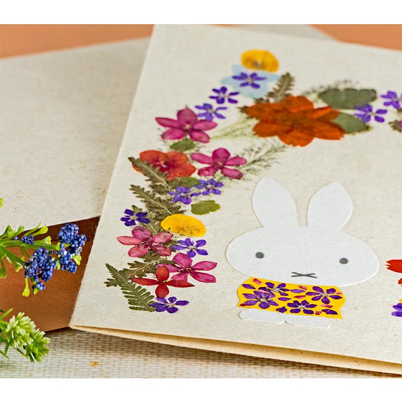 押し花グリーティングカード お花アーチ