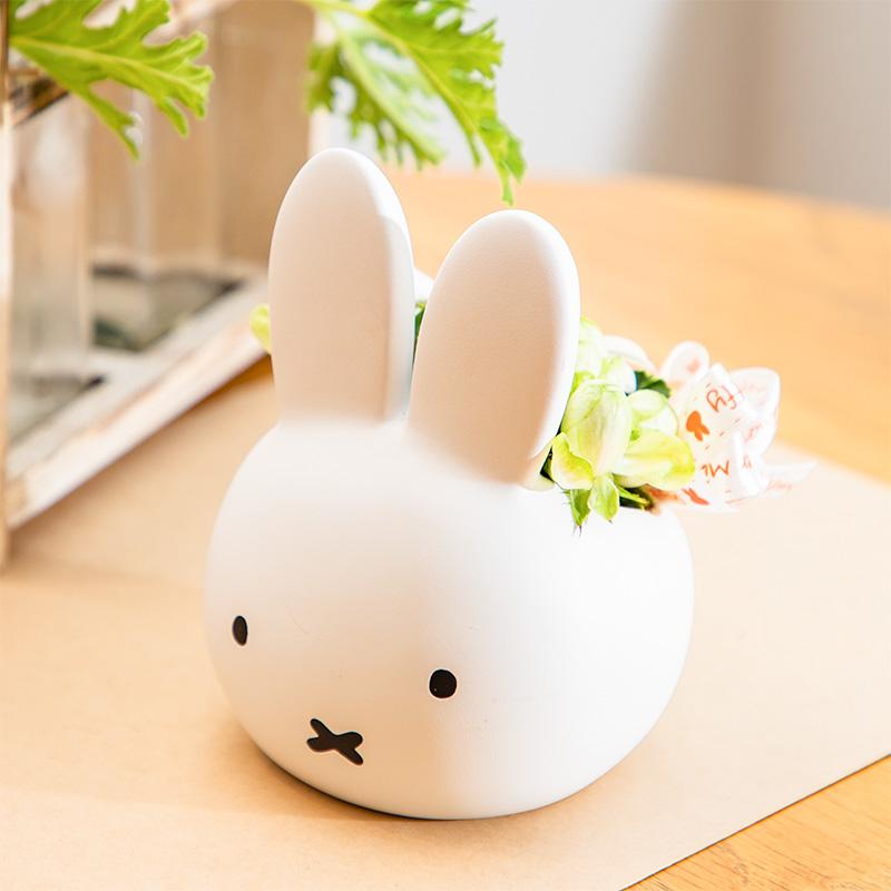 【直送商品A】ミッフィーおかおカバー アレンジ ホワイト