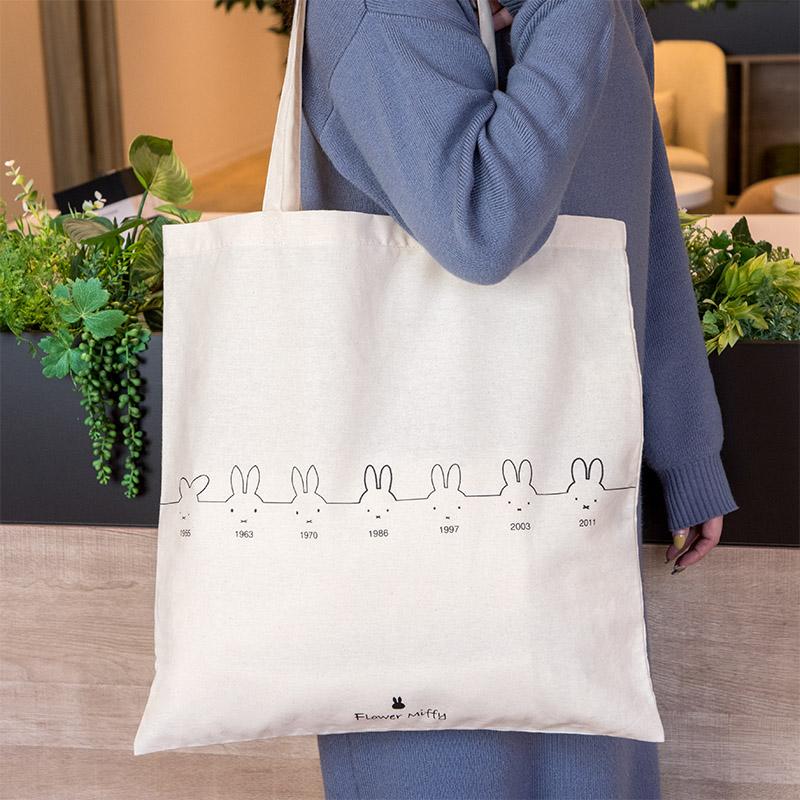 ★単品購入不可★ フラワーミッフィー 65周年記念デザイン ショップトートバッグ