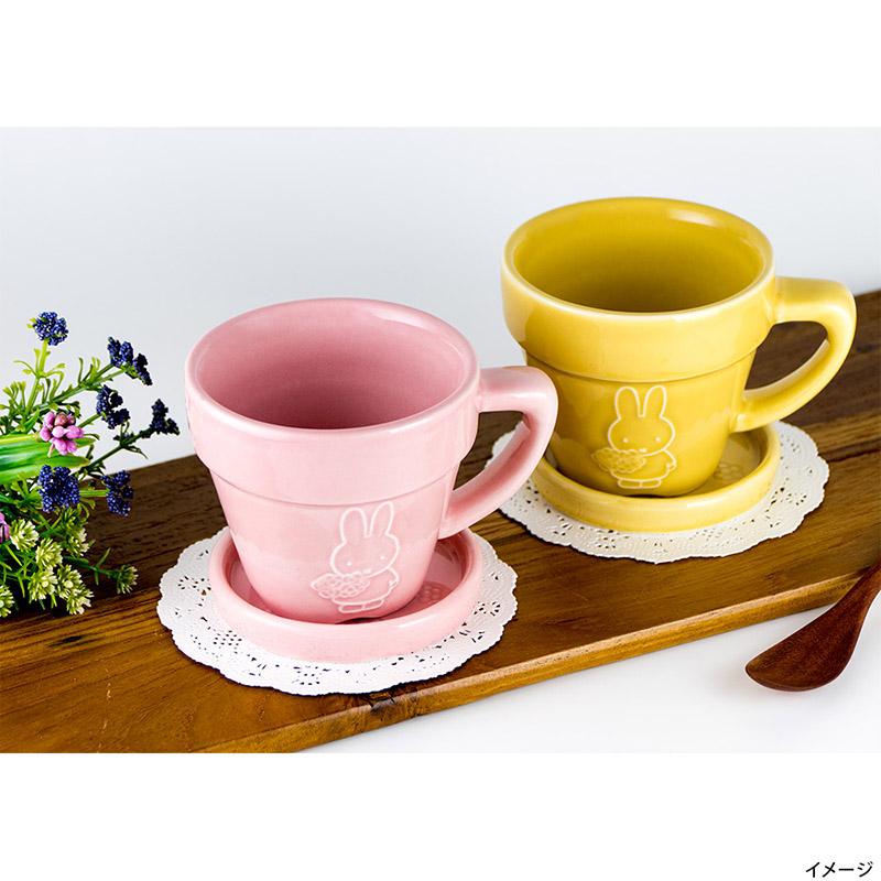 フラワーポットマグ ピンク